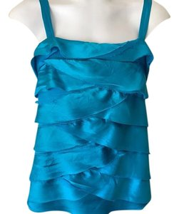 Cache Evening Wear Cocktail Tank Top Turquoise