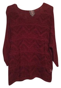 Buffalo David Bitton Cut-out Casual Flowy Sweater