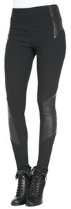 Rag & Bone Leather Bodycon Black Leggings