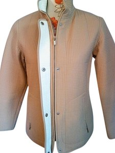 Gallery Quilted Fall Spring Beige Jacket