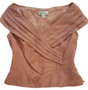 Chetta B. by Sherrie Bloom and Peter Noviello Vintage Designer Special Occasion Top Blush Rose