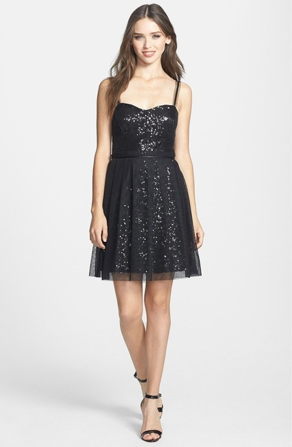 French Connection Holiday Party Bandage Sequin Dress Image 1