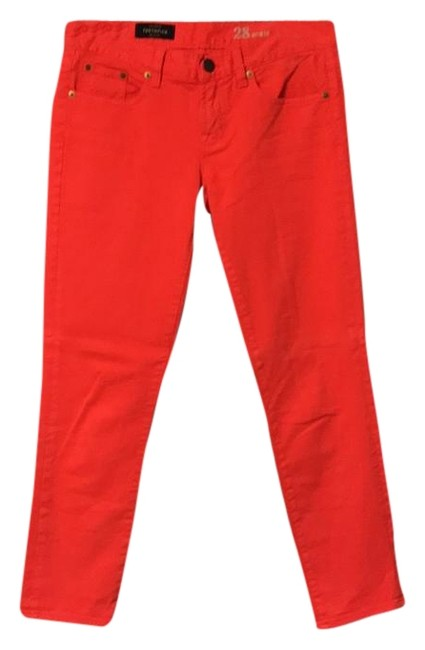 Item - Red Toothpick Ankle Straight Leg Jeans Size 28 (4, S)