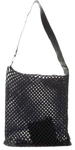 Gucci Leather Woven Tote in Black