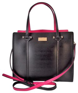 Kate Spade Arbor Place Elodie Small Strap Leather Tote in Black