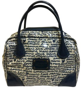 Marc by Marc Jacobs Satchel in Blue / White