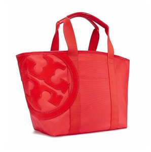 Tory Burch Canvas Tote in Poppy Red