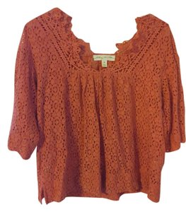 Urban Outfitters Salmon Lace Top Salmon pink