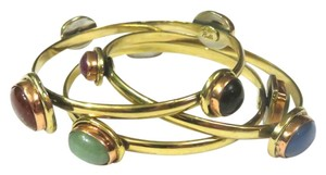 Dovajean FREE SHIPPING - Semi-Precious Stone Bangle Bracelet Set