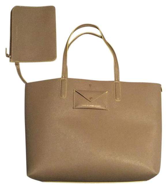 Item - Metropolitote Taupe Gray. Nterior Is Yellow Leather Tote