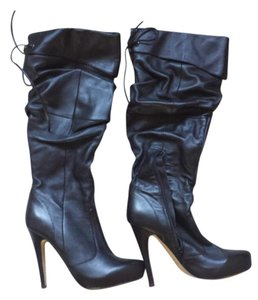 RSVP Black Leather Boots