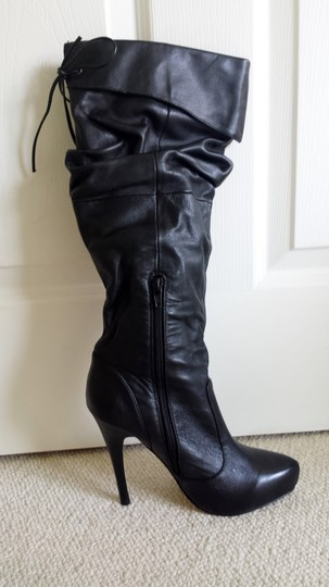 RSVP Black Leather Boots Image 1