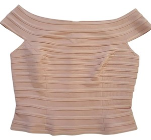 JS Collections Feminine Crop Top Nude Pink