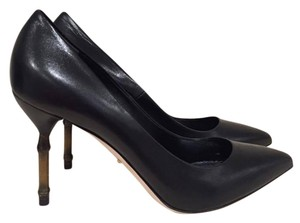 Gucci Bamboo Kristen Leather Classic Stiletto black Pumps