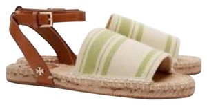 Tory Burch Canvas Lime Green Sandals