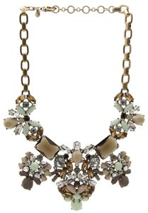 J.Crew New J Crew Goldtone Chunky Statement Rhinestone Beaded Chain Necklace