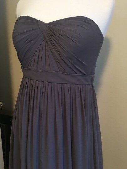 Jenny Yoo Charcoal (Darker Gray) Luxe Chiffon/ Polyester Aidan Formal Bridesmaid/Mob Dress Size 2 (XS) Image 1