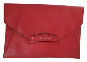 Givenchy Antigona Large Designer Red Clutch