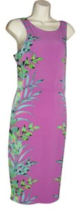 Nicole Miller short dress magenta, green, orange on Tradesy