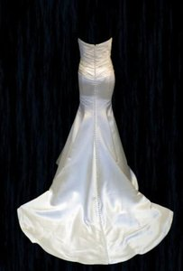 Augusta Jones Mermaid #patti Sexy Curve Hugging Satin Sweetheart Sz 10/12 Wedding Dress
