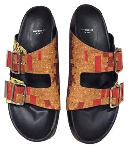 Givenchy Birkenstock Buckle Gladiator orange Sandals