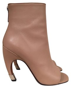 Givenchy Curved Stiletto Leather Heel nude Boots