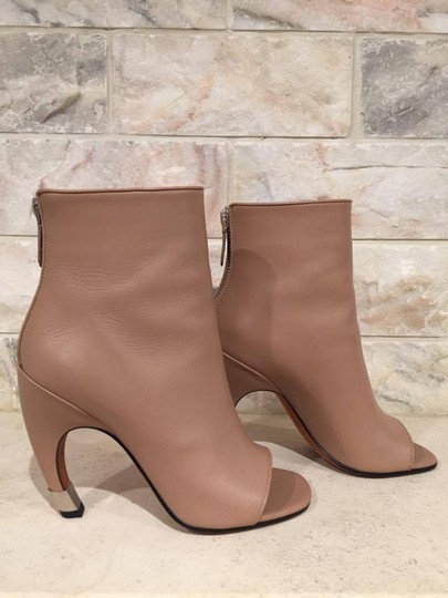 Givenchy Curved Stiletto Leather Heel nude Boots Image 1