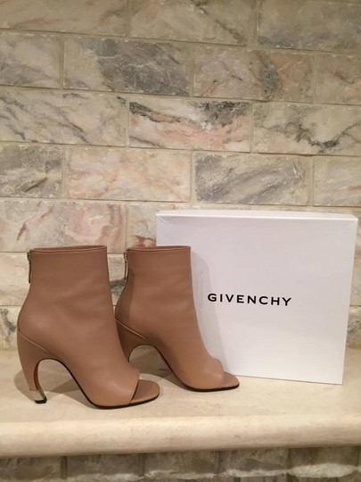 Givenchy Curved Stiletto Leather Heel nude Boots Image 2