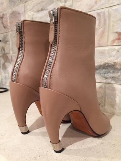Givenchy Curved Stiletto Leather Heel nude Boots Image 4