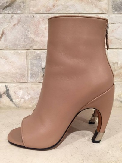 Givenchy Curved Stiletto Leather Heel nude Boots Image 5