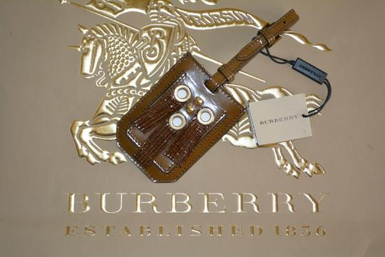 Burberry NWT BURBERRY PRORSUM EYELET FRINGE LEATHER LUGGAGE TAG Image 3