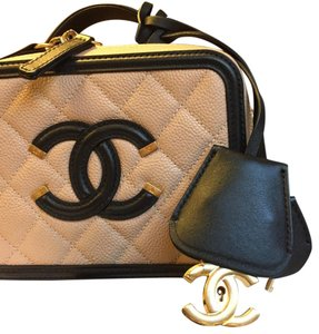 Chanel Filigree Vanity Case Bag Cross Body Bag