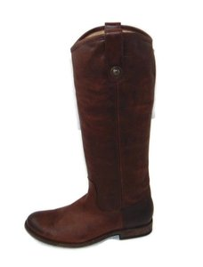 Frye Melissa Button Riding Equestrian Dark Brown Boots