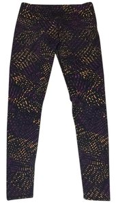 Fabletics Orange, Purple, Black Leggings