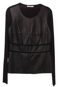 Bailey 44 Faux Leather Cut-out Top Black