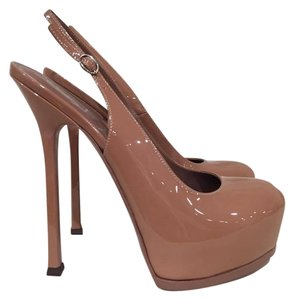 Saint Laurent Ysl Tribute Tribtoo Classic Slingback nude Pumps
