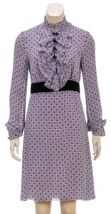 Tory Burch Silk Print Velvet Dress