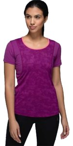 Lululemon regal plum camo subtle army print pink running top