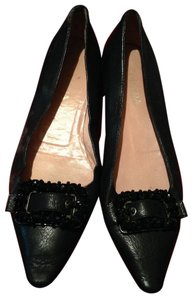 Prada Leather Jeweled black Flats