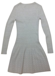 Moda International short dress Moda Sweater M White Sliver on Tradesy