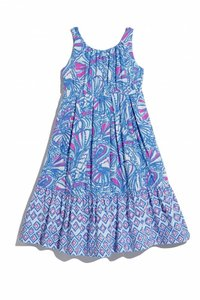 BLUE PINK MY FANS Maxi Dress by Lilly Pulitzer for Target Maxi Preppy