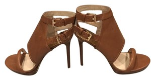 Michael Kors Strappy Heel Detail Brown Pumps
