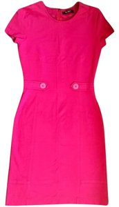 Versace short dress PINK Hot Shift With Buttons At The Waist on Tradesy