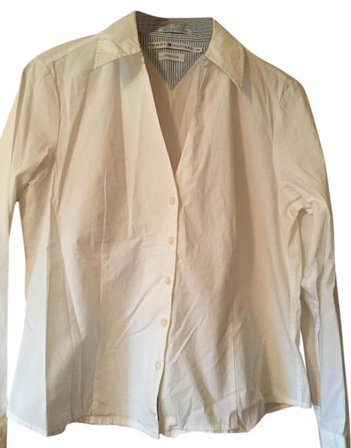 Preload https://img-static.tradesy.com/item/20074775/tommy-hilfiger-white-shirt-button-down-top-size-14-l-0-2-650-650.jpg