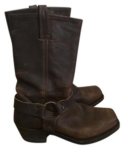 Frye Fyre Harness Leather Brown Boots