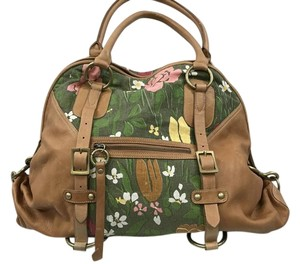 Dave Marrot Tote in green, tan
