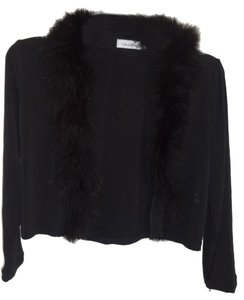 Calvin Klein Shrug Polyester Faux Fur Sweater