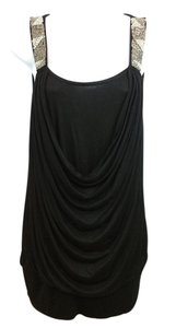 BCBGMAXAZRIA Black Jersey Top
