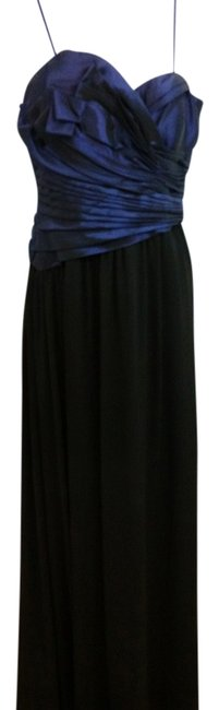 Preload https://img-static.tradesy.com/item/20074936/max-and-cleo-blue-black-gown-long-cocktail-dress-size-6-s-0-1-650-650.jpg