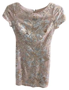 Alexia Admor Sequin Sheath Floral Shimmer Dress